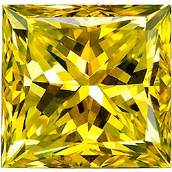 Star Legacy Pet Memorial Diamond - .25 CT Princess-Cut Fancy Yellow Diamond