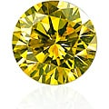 Star Legacy Pet Memorial Diamond - 1.0 CT Round-Cut Fancy Yellow Diamond
