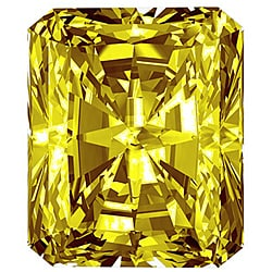 Star Legacy Pet Memorial Diamond - .50 Radiant-Cut Fancy Yellow Diamond