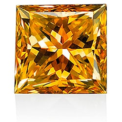 Star Legacy Pet Memorial Diamond - 1.0 CT Princess-Cut Fancy Cognac Diamond