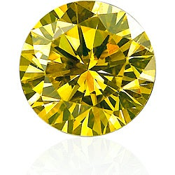 Star Legacy Pet Memorial Diamond - .25 CT Round-Cut Fancy Yellow Diamond