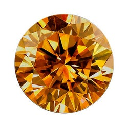 Star Legacy Pet Memorial Diamond - .50 CT Round-Cut Fancy Cognac Diamond