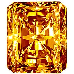 Star Legacy Pet Memorial Diamond - .25 CT Radiant-Cut Fancy Cognac Diamond
