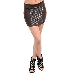 Stanzino Women's Brown Studded Skirt