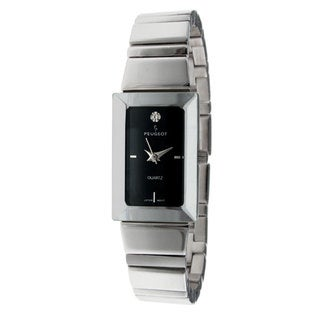Peugeot Women's Black Dial Silvertone Bracelet Watch