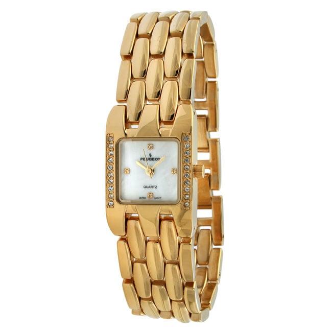 Peugeot Women's Crystal Goldtone Bracelet Watch