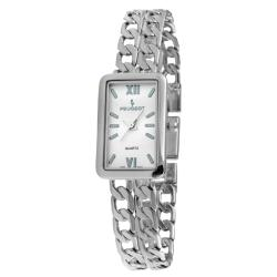 Peugeot Women's Silvertone Japanese Quartz Bracelet Watch