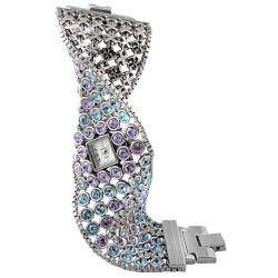 Peugeot Women's Mother of Pearl Dial Crystal Watch