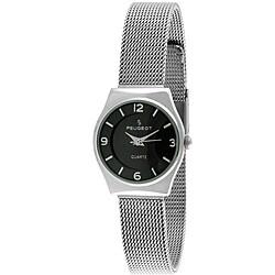 Peugeot Women's '7012S' Silvertone Mesh Strap Watch