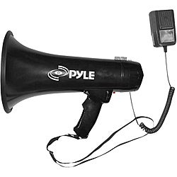 Pyle 40 Watts Professional Megaphone/Bullhorn w/Siren & Aux-In For Music/iPod