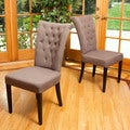 Parlor Tufted Fabric Dining Chairs (Set of 2)