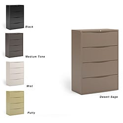 Mayline CSII Freestanding Wide 4-Drawer Lateral File