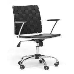 Vittoria Black Leather Modern Office Chair