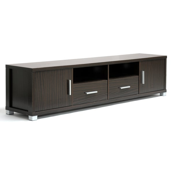 Chisholm Dark Brown Wood Modern TV Cabinet