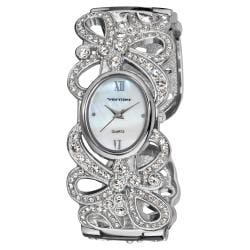 Vernier Woman's V1111 Sparkle Ribbon Bangle Watch
