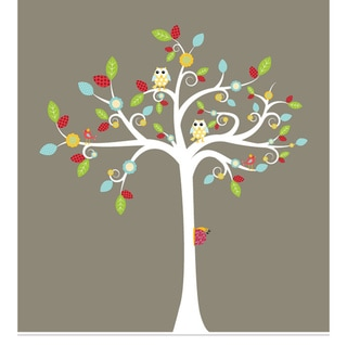Nursery Wall Art Tree 7-piece Decal Set