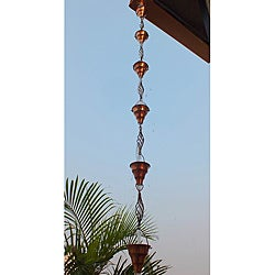 Monarch Cup and Swirl Pure Copper 8.5-foot Rain Chain