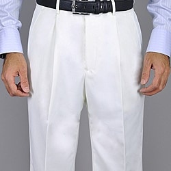 Giorgio Fiorelli Men's White Single Pleat Pants
