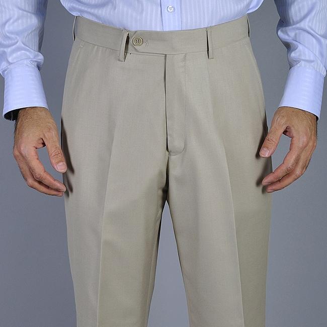 Men's Bone Flat Front Pants