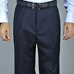 Men's Navy Blue Single Pleat Pants