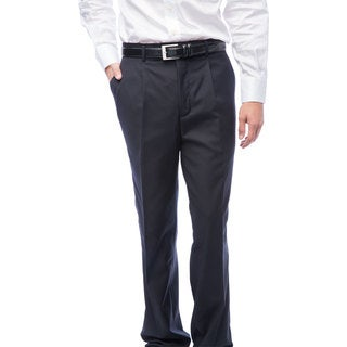 Men's Navy Blue Single Pleat Pants