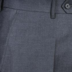 Men's Charcoal Flat Front Pants