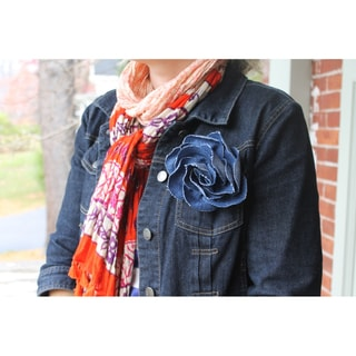 CarolineAlexander Recycled Denim Flower Pin