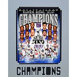 Super Bowl XLVI Champions New York Giants Matted Photo