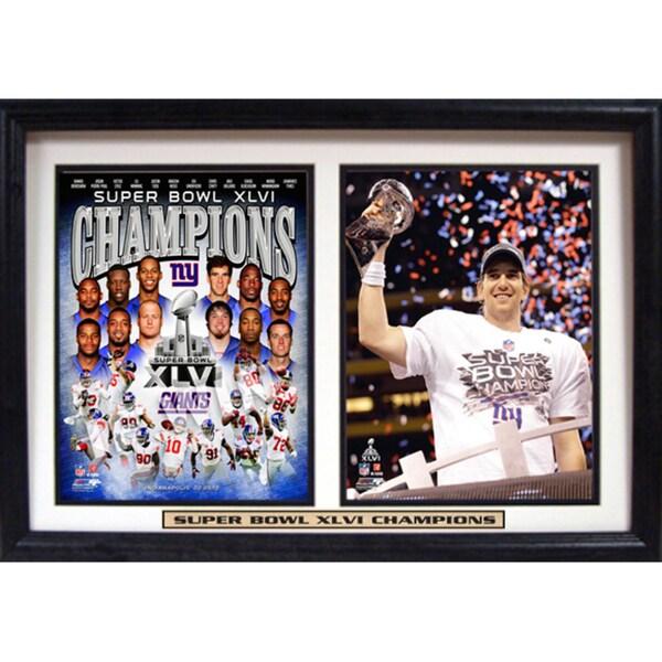 Super Bowl XLVI Champion New York Giants Double Frame 8802541