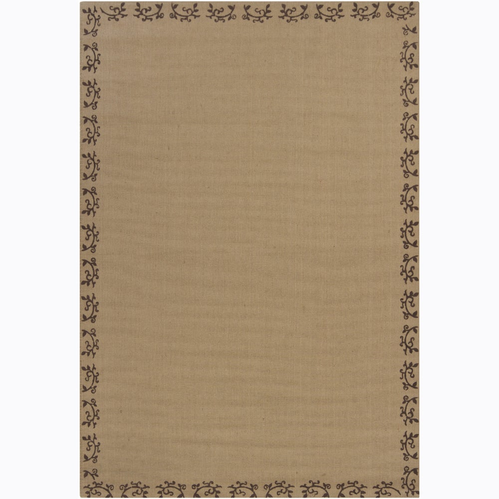 Hand-woven Mandara Tan Rug (11')6 x 11')6)
