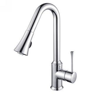 Kraus Single Lever Pull Out Chrome Kitchen Faucet