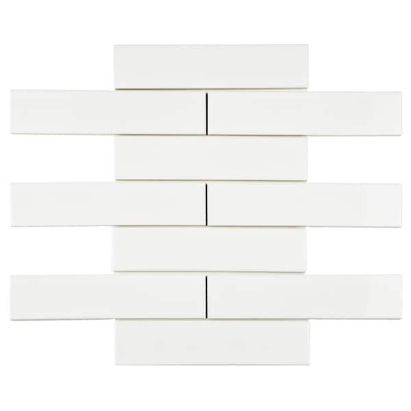 SomerTile 1.75x7.625-inch Victorian Soho Subway White Porcelain Tiles (Case of 100)