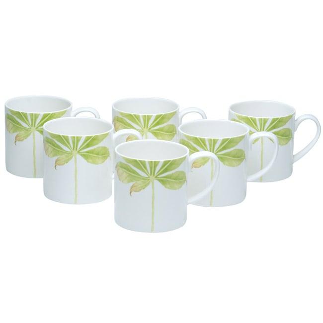 Red Vanilla 'Evergreen Field' Mugs (Set of 6)