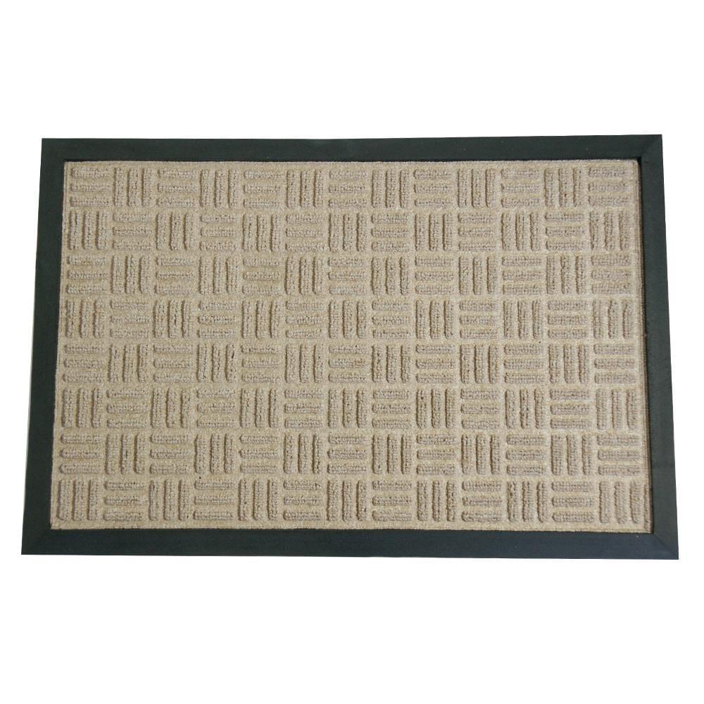 Rubber-Cal Tan Wellington Rubber Carpet Floor Mat (3' x 5')