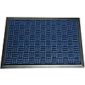 Rubber-Cal Blue Wellington Rubber Carpet Floor Mat (4' x 6')