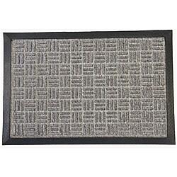 Rubber-Cal Grey Wellington Rubber Carpet Floor Mat (3' x 5')