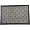 Rubber-Cal Grey Wellington Rubber Carpet Floor Mat (3' x 5')