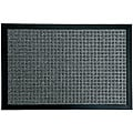 Rubber-Cal Charcoal Nottingham Entrance Door Mat (1'6 x 2'6)