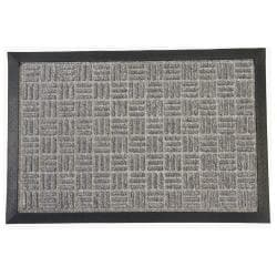 Rubber-Cal Wellington Grey Carpet Rubber Mat (2' x 3')