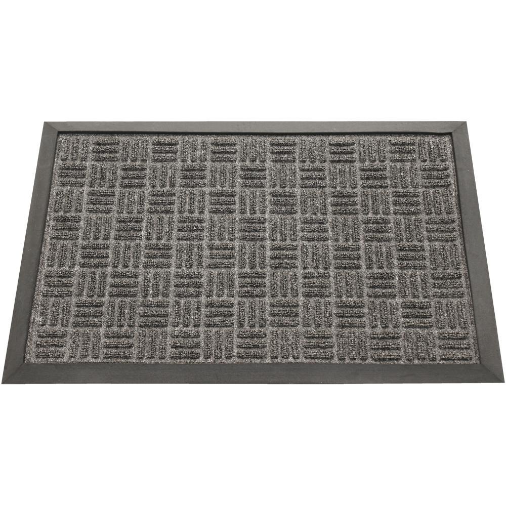 Rubber-Cal Wellington Charcoal Carpet Rubber Mat (1'4 x 2')