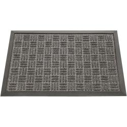 Rubber-Cal Wellington Charcoal Carpet Rubber Mat (1'4 x 2')