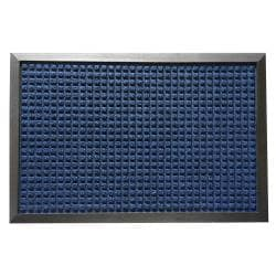Rubber-Cal Nottingham Blue Carpet Entrance Mat (3' x 5')