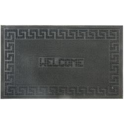 Rubber-Cal Welcome Decorative Rubber Welcome Mat (1'6 x 2'6)