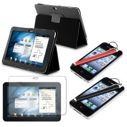 Leather Case/ Screen Protector/ Stylus for Samsung Galaxy Tab 8.9-inch