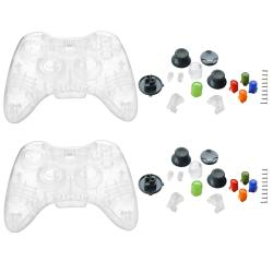 Clear Crystal Shell for xBox 360 Wireless Controller (Pack of 2)