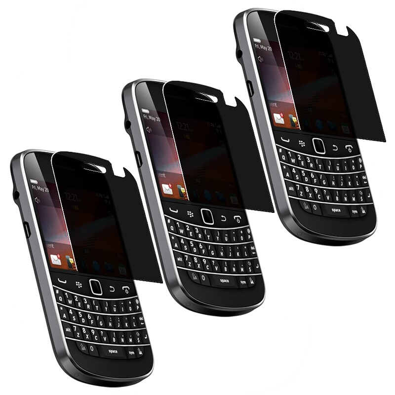 INSTEN Privacy Filter Screen Protector for BlackBerry Bold 9900/ 9930 (Pack of 3)