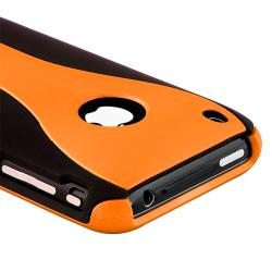 Orange/ Black Case/ LCD Protector/ Audio Cable for Apple iPhone 3GS