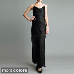 Issue New York Women's Cowl Neck Beaded Dress