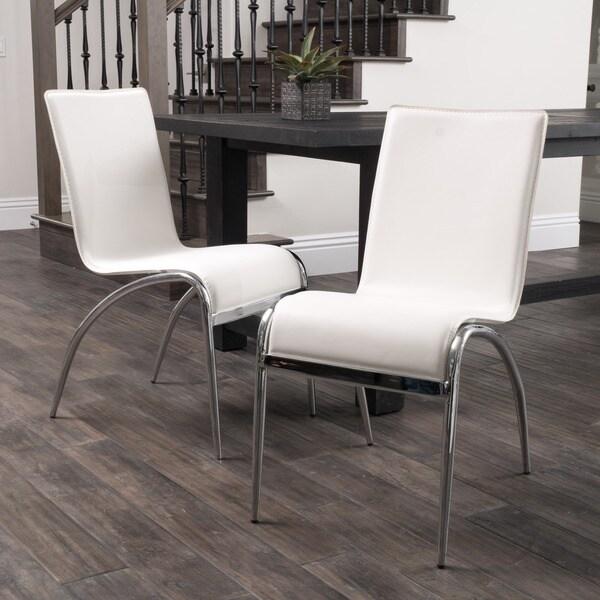 Christopher Knight Home Kensington White Modern Chair (Set of 2)