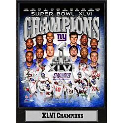 Super Bowl XLVI Champions New York Giants Commemorative Plaque